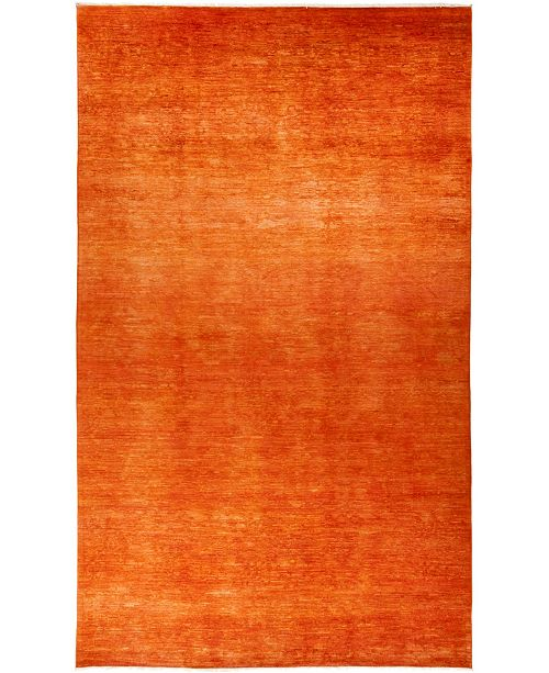 """Timeless Rug Designs CLOSEOUT! One of a Kind OOAK775 Tangerine 8'3"""" x 13'10"""" Area Rug"""