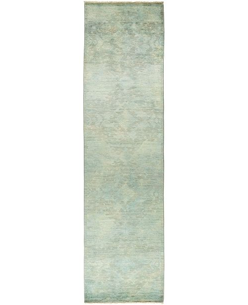 "Timeless Rug Designs One of a Kind OOAK830 Mint 3'2"" x 12'1"" Runner Rug"