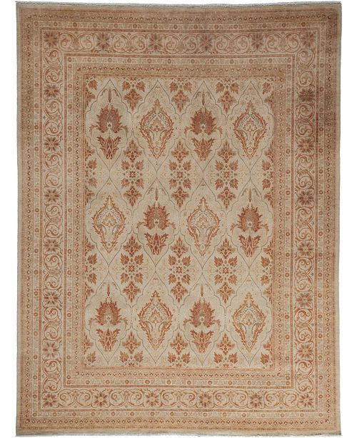 """Timeless Rug Designs CLOSEOUT! One of a Kind OOAK3486 Mocha 7'10"""" x 10'5"""" Area Rug"""