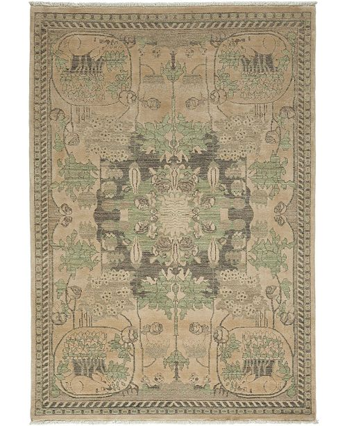 "Timeless Rug Designs CLOSEOUT! One of a Kind OOAK3386 Hazelnut 5'1"" x 7'3"" Area Rug"