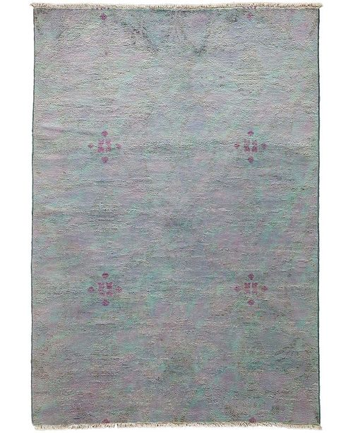 """Timeless Rug Designs CLOSEOUT! One of a Kind OOAK3345 Lavender 4'2"""" x 6' Area Rug"""