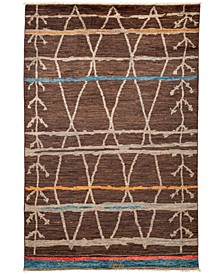 """CLOSEOUT! One of a Kind OOAK3334 Brown 5'10"""" x 9'2"""" Area Rug"""