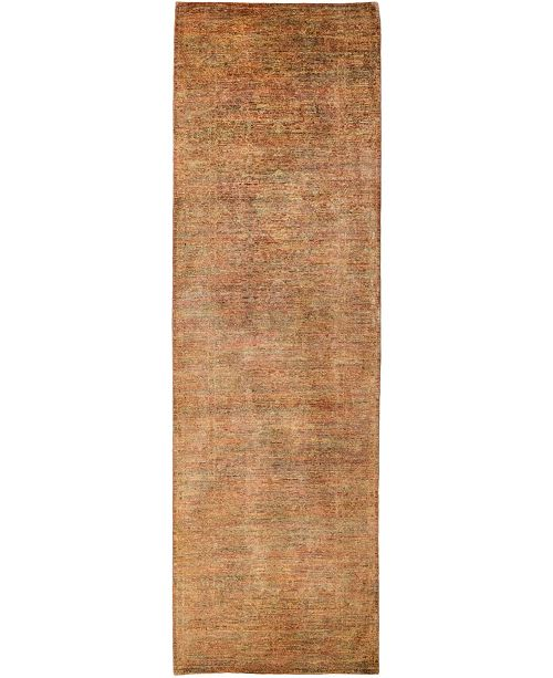"Timeless Rug Designs CLOSEOUT! One of a Kind OOAK3152 Chestnut 3'5"" x 10'10"" Runner Rug"