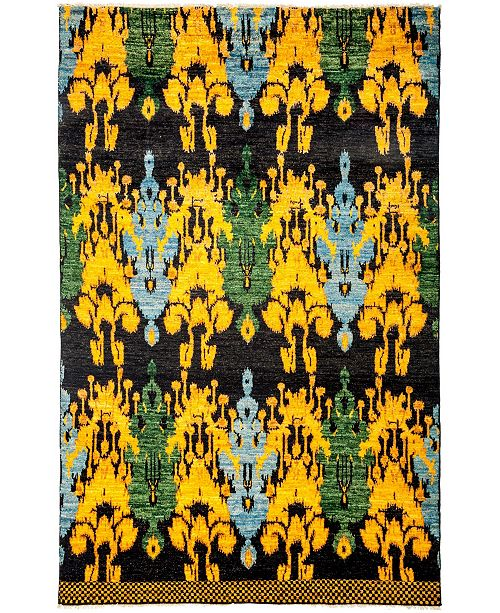 """Timeless Rug Designs CLOSEOUT! One of a Kind OOAK3142 Yellow 6'1"""" x 9'4"""" Area Rug"""