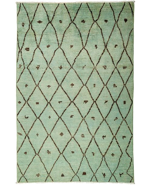 "Timeless Rug Designs CLOSEOUT! One of a Kind OOAK3128 Sage 5'10"" x 9'1"" Area Rug"