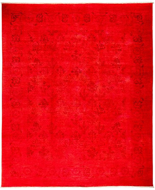 "Timeless Rug Designs CLOSEOUT! One of a Kind OOAK3022 Red 8' x 9'8"" Area Rug"