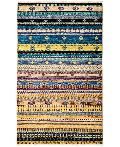 "Timeless Rug Designs CLOSEOUT! One of a Kind OOAK3058 Ocean 3'2"" x 5'3"" Area Rug"