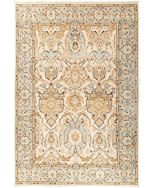 """Timeless Rug Designs CLOSEOUT! One of a Kind OOAK2908 Ivory 6' x 8'10"""" Area Rug"""