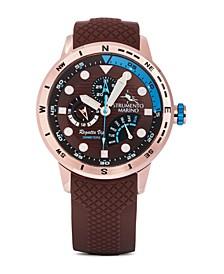 Men's Regatta VIP Day Retrograde Brown Performance Timepiece Watch 46mm