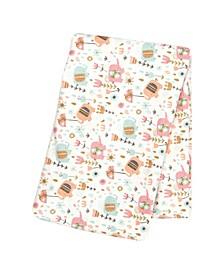 Playful Elephants Flannel Swaddle Blanket