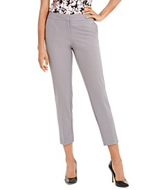 Cropped Mid-Rise Slim-Fit Pants