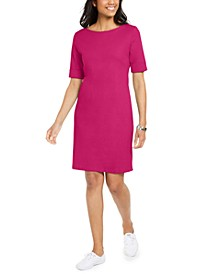 Cotton Cuffed-Sleeve Dress, Created for Macy's