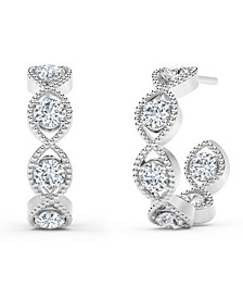 Tribute™ Collection Diamond (7/8 ct. t.w.) Hoop Earrings in 18k Yellow, White and Rose Gold.