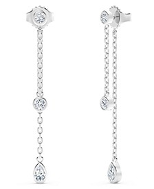 Tribute™ Collection Diamond (3/4 ct. t.w.)  Earrings in 18k White Gold