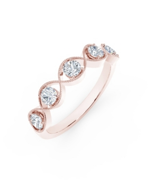 Forevermark Tribute Collection Diamond (1/2 ct. t.w.) Ring with Mill-Grain in 18k Yellow