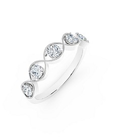 Tribute™ Collection Diamond (1/2 ct. t.w.) Ring with Mill-Grain in 18k Yellow, White and Rose Gold