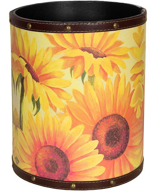 Red Lantern Sunflower Garden Waste Basket