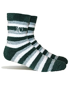 Oakland Athletics Fuzzy Steps Socks