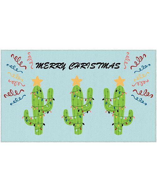"Mohawk Christmas Cactus Accent Rug, 24"" x 40"""