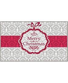 "Christmas Damask Accent Rug, 18"" x 30"""