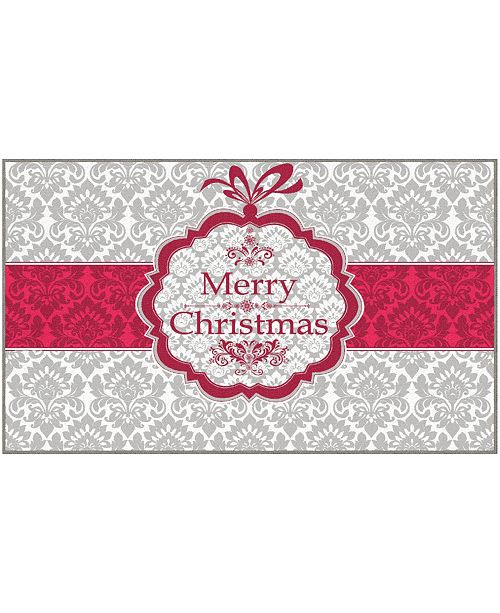 "Mohawk Christmas Damask Accent Rug, 18"" x 30"""