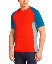 Men's Motion Regular Fit Short Sleeve Colorblock Cotton Pique Performance T-Shirt