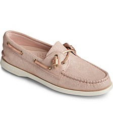 Women's A/O Vida Brushed Metallic Boat Shoes