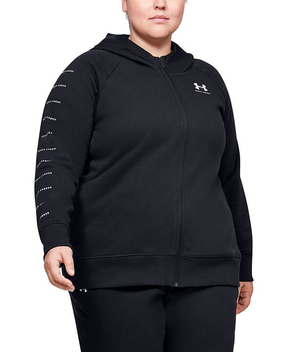 Under Armour Plus Size Rival Fleece Zippered Hoodie