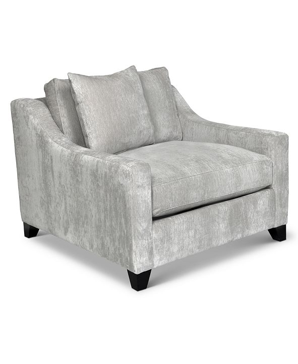 """Furniture Courtni 40"""" Fabric Arm Chair, Created for Macy's"""
