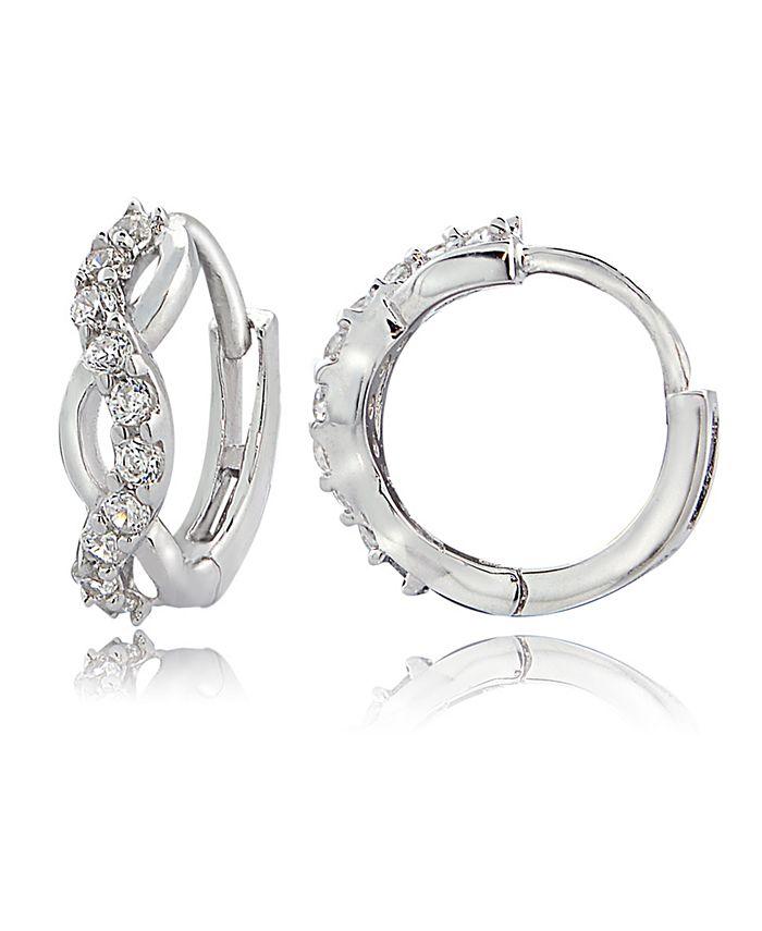 Giani Bernini - Cubic Zirconia Wrap Huggie Hoop Earrings in Sterling Silver