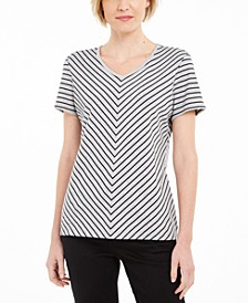Mitered-Stripe Top, Created for Macy's