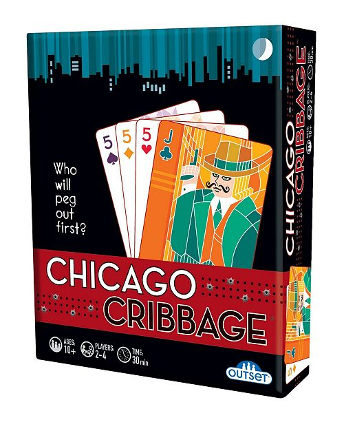 Outset Media Chicago Cribbage Game - Who Will Peg Out First