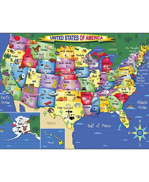 White Mountain Puzzles USA Map 300 Piece Jigsaw Puzzle