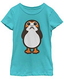Star Wars Big Girl's Last Jedi Porg Cute Cartoon Short Sleeve T-Shirt