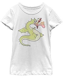 Cuphead Big Girl's Grim Matchstick Living Fireball Short Sleeve T-Shirt