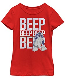 Star Wars Big Girl's Galaxy of Adventures R2-D2 Beep Quote G1 Short Sleeve T-Shirt