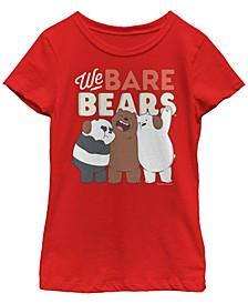 Cartoon Network Big Girl's We Bare Bear Ice Bear Will Protect You Short Sleeve T-Shirt