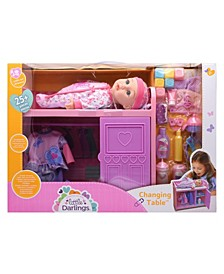 Little Darlings Toy Baby Doll Changing Table Play Set