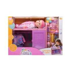 New Adventures Little Darlings Toy Baby Doll Changing Table Play Set