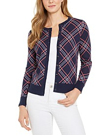 Plaid Cardigan Sweater, Created for Macy's