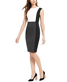 Petite Colorblocked Sheath Dress