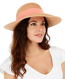 Mixed-Braid Scarf Floppy Hat