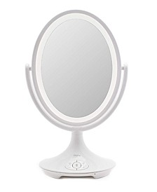 "Beauty Magnify 6"" Double-sided Vanity Mirror with Bluetooth Audio"