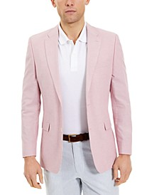 Men's Modern-Fit TH Flex Stretch Pink Chambray Sport Coat