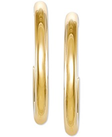"Medium Hoop Earrings in 18k Gold-Plated Sterling Silver, 2"", Created for Macy's"