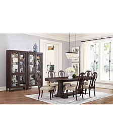 Charleston Lane Dining Furniture, 7-Pc. Set (Expandable Table & 6 Side Chairs)