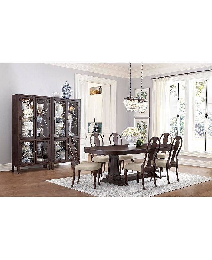 Furniture - Charleston Lane Dining , 7-Pc. Set (Expandable Table & 6 Side Chairs)