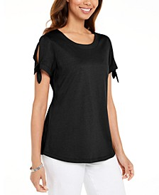 Tie-Sleeve T-Shirt, Created For Macy's