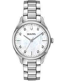 Women's Sutton Diamond-Accent Stainless Steel Bracelet Watch 32.5mm