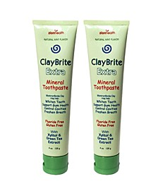Claybrite Extra Toothpaste Set of 2 Pack, 8oz